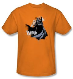 Batman Kids T-Shirt - The Drip Knight Youth Orange Tee