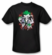 Batman Kids T-Shirt - The Joker Four Of A Kind Youth Black Tee