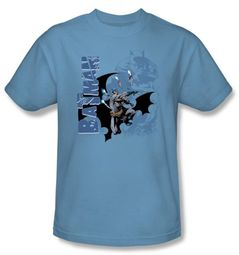 Batman Kids T-Shirt - Throwing Blades Youth Blue Tee
