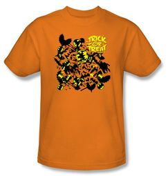 Batman Kids T-Shirt Trick Or Treat Youth Orange Tee Shirt