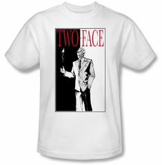 Batman Kids T-Shirt - Two Face Youth White Tee