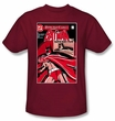 Batman Kids T-Shirt - Wanted Bat Youth Cardinal Red Tee