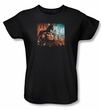 Batman Ladies T-Shirt - Arkham City Knockout Black Tee