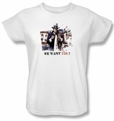 Batman Ladies T-Shirt - Arkham City We Want You White Tee