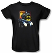 Batman Ladies T-Shirt - Bat Racing Black Tee