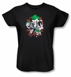 Batman Ladies T-Shirt - Four Of A Kind Black Tee