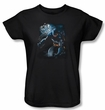 Batman Ladies T-Shirt - Light Of The Moon Black Tee