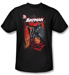 Batman Shirt - Adult Black T-Shirt Tee