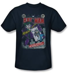 Batman T-Shirt - #251 Distressed Adult Black Tee