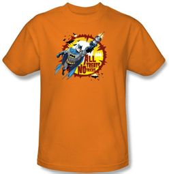 Batman T-Shirt - All Treats Adult Orange Tee