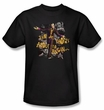 Batman T-Shirt - Arkham City About To Begin Adult Black Tee