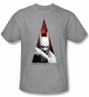 Batman T-Shirt – Arkham City Bat Triangle Adult Silver Tee