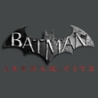 Batman T-Shirt - Arkham City Logo Adult Charcoal Tee