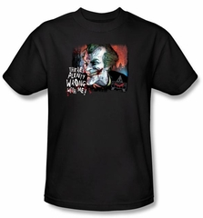 Batman T-Shirt - Arkham City Plenty Wrong Adult Black Tee