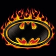 Batman T-Shirt - Bat Flames Shield Adult Black Tee