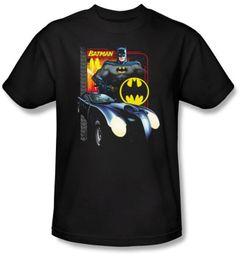 Batman T-Shirt - Bat Racing Adult Black Tee
