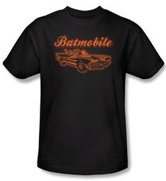 Batman T-Shirt - Batmobile Adult Black Tee