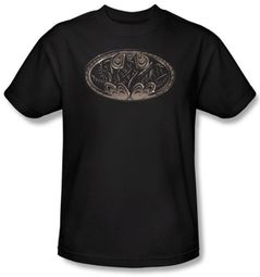 Batman T-Shirt - Bio Mech Bat Shield Adult Black Tee