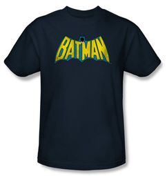 Batman T-Shirt - Classic Batman Logo Adult Navy Blue Tee