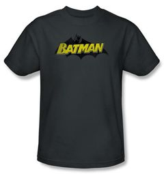 Batman T-Shirt - Classic Comic Logo Adult Black Tee
