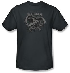 Batman T-Shirt - Crusade Adult Charcoal Tee