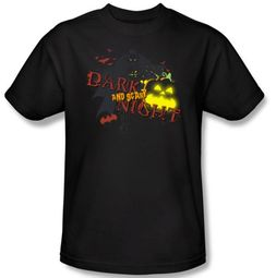Batman T-Shirt - Dark and Scary Night Adult Black Tee