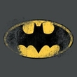 Batman T-Shirt - Destroyed Logo Adult Charcoal Tee