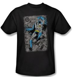 Batman T-Shirt - Detective #487 Distress Adult Black Tee