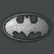 Batman T-Shirt - Duct Tape Logo Adult Charcoal Grey Tee