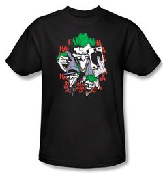 Batman T-Shirt - Four Of A Kind Joker Adult Black Tee