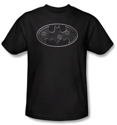 Batman T-Shirt - Glass Holes Logo Adult Black T-shirt Tee Shirt