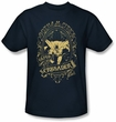Batman T-Shirt - Gotham Crusader Adult Navy Blue Tee