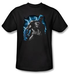 Batman T-Shirt - Gotham Lightning Adult Black Tee