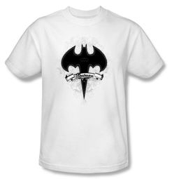Batman T-Shirt - Gothic Gotham Adult White Tee