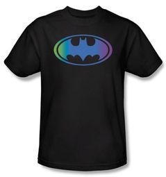 Batman T-Shirt - Gradient Bat Logo Adult Black Tee