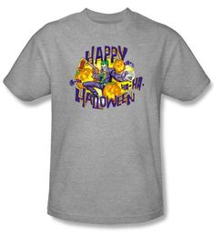 Batman T-Shirt - Ha Ha Halloween Adult Athletic Heather Tee
