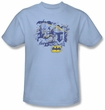 Batman T-Shirt - He Sees All Adult Light Blue Tee