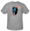Batman T-Shirt - Hello, My Name Is Batman Adult Heather Grey Tee