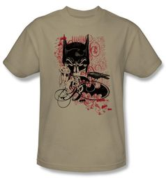 Batman T-Shirt - Heroic To The Bone Adult Sand Tee