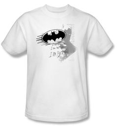Batman T-Shirt - I Am Vengeance Adult White Tee