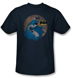 Batman T-Shirt - In The Spotlight Adult Navy Blue Tee