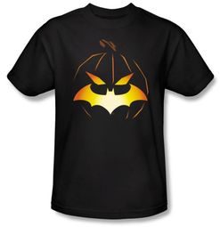 Batman T-Shirt - Jack O'Bat Adult Black Tee