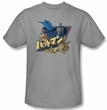 Batman T-Shirt - Japanese Knight Adult Silver Tee