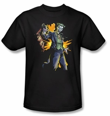 Batman T-Shirt - Joker Bang Adult Charcoal Tee