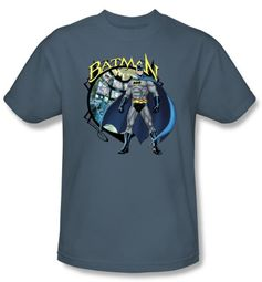 Batman T-Shirt - Joker Case Files Adult Slate Blue Tee