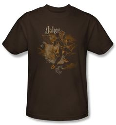 Batman T-Shirt - Joker Explosion Adult Brown Tee