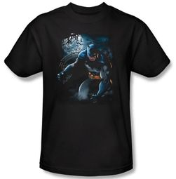 Batman T-Shirt - Light Of The Moon Adult Black Tee