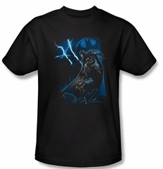 Batman T-Shirt - Lightning Strikes Adult Black Tee