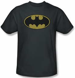 Batman T-Shirt - Little Logos Adult Charcoal Tee