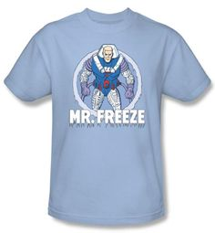 Batman T-Shirt - Mr Feeze Adult Light Blue Tee
